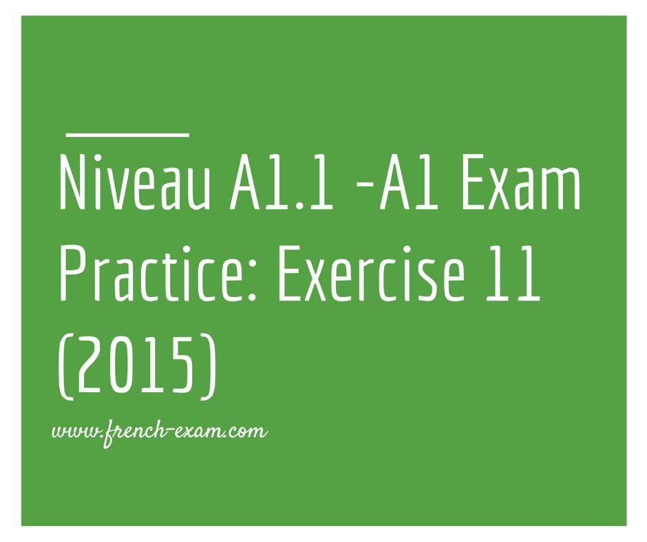 Exam Practice_ Exercise 11 (2015)