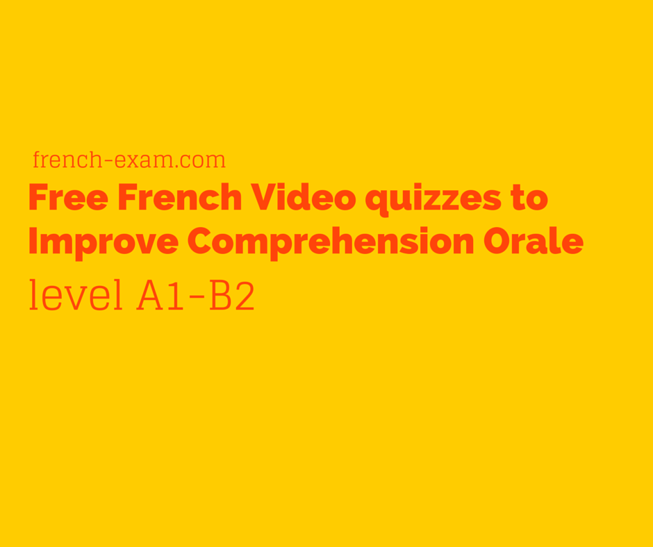 Free French Video exercises to Improve